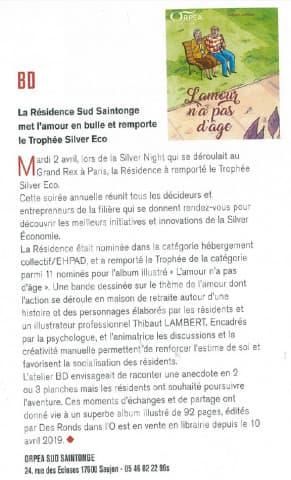 Orpea Sud Saintonge amour en bulle