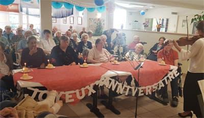 Orpea Carmableu anniversaire résidents