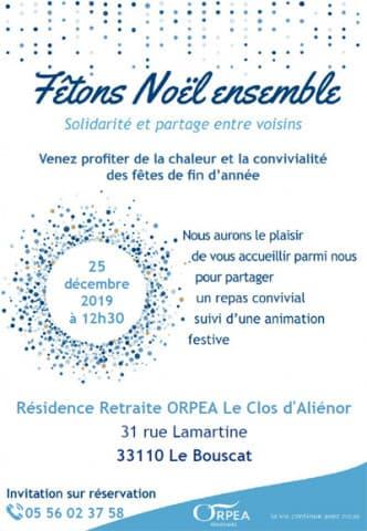 Orpea Le Clos d'Aliénor noël solidaire