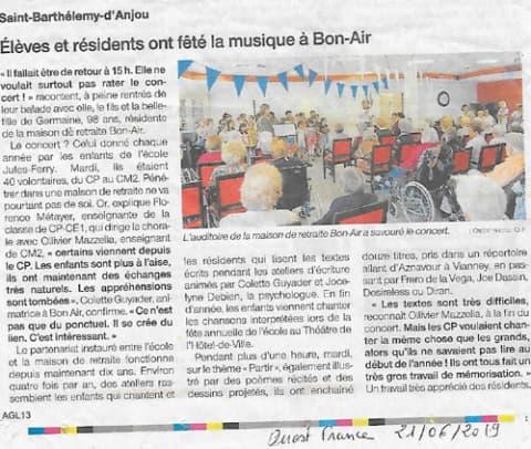 Orpea Bon Air fête musique