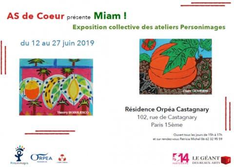 Orpea Castagnary exposition miam