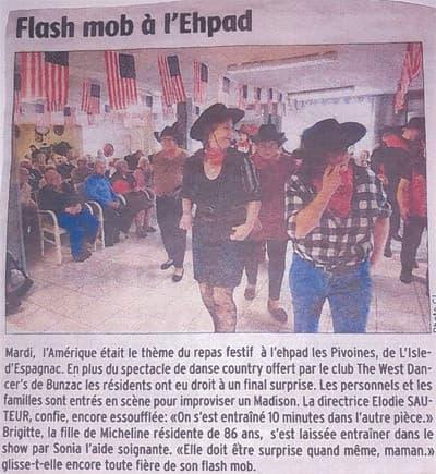 Orpea Les Pivoines flash mob