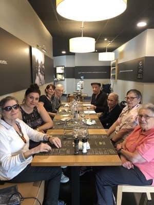 Orpea Les Pivoines sortie restaurant