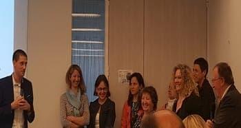 remise du label droits des usagers en santé à la clinique mirabeau CLINEA SSR