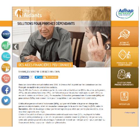 blog des aidants d'ADHAP Services