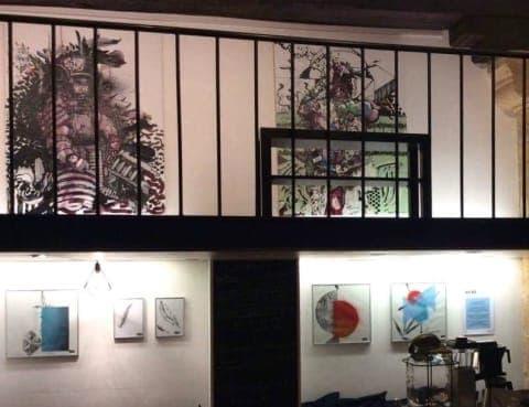 Exposition artistique des cliniques CLINEA de Crosne et des artistes Le Lavoir pour Imagine for Margo