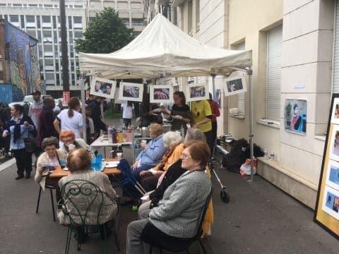 Festival street art de la maison de retraite ORPEA Les Musiciens à Paris