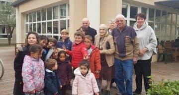 Orpea Carmableu enfants résidents paques