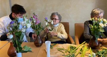 Orpea Le Corbusier créations florales