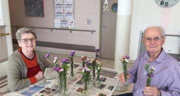 Orpea Le Clos d'Aliénor ateliers floraux