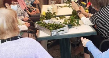 Orpea Croix Rousse atelier floral avril 2021