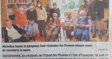 Orpea Les Pivoines voeux maire journal