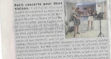 Orpea Les Grands pins concerto deux violons
