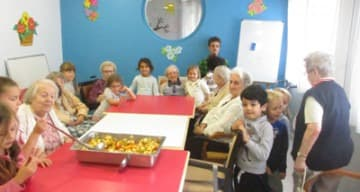 Orpea Les Serianes rencontre intergenerationnelle