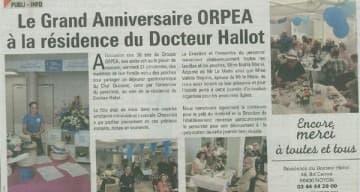 Orpea Docteur Hallot anniversaire orpea