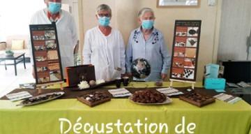 Orpea L'Emeraude dégustation chocolats